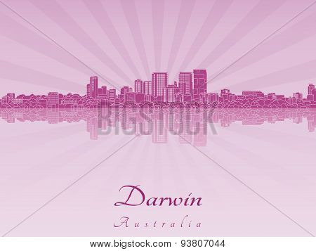 Darwin Skyline In Purple Radiant Orchid