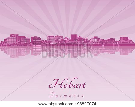 Hobart Skyline In Purple Radiant Orchid