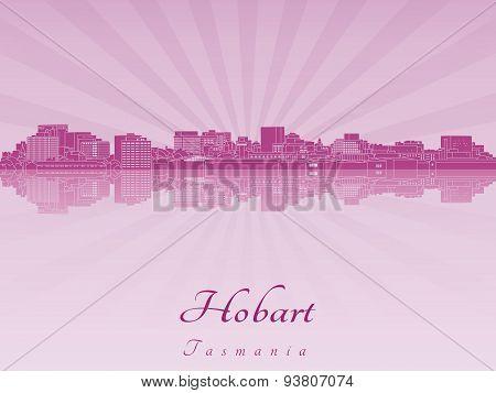 Hobart Skyline In Purple Radiant Orchid