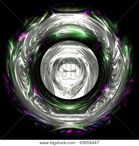 Abstract Hyper Glass Ball Texture