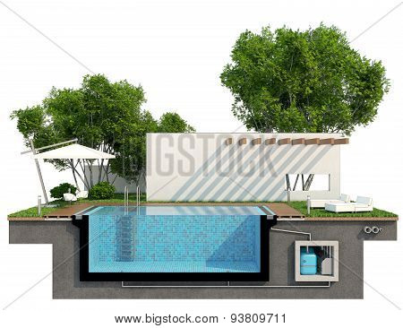 Sectional View Of The Pool