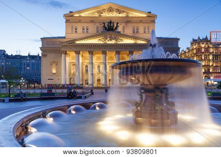 Bolshoi Theatre at dusk