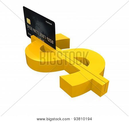 Dollar Sign and Credit Card Machine
