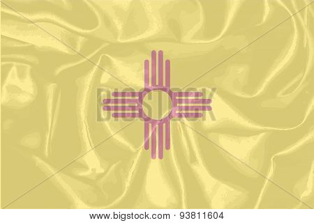New Mexico State Silk Flag