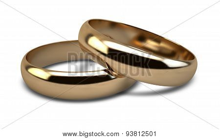 Wedding Ring Gold Pair