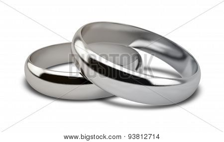 Wedding Ring White Gold Pair