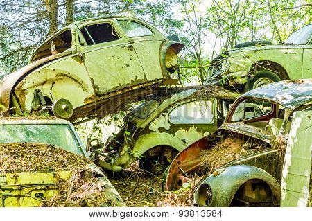 Pile Of German Cars