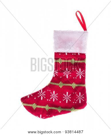Christmas stocking isolated on white background