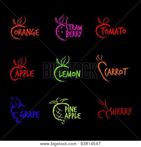 Fruit Symbols logo vecter