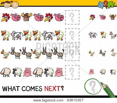 Education Game With Farm Animals