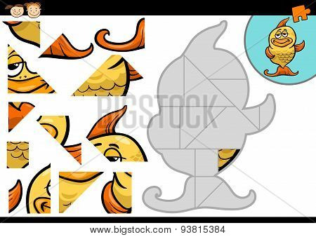 Cartoon Fish Jigsaw Puzzle Game