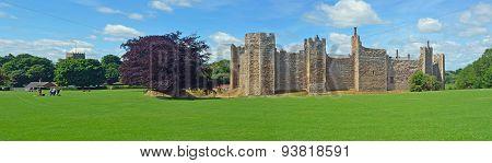 Framlingham castle and church