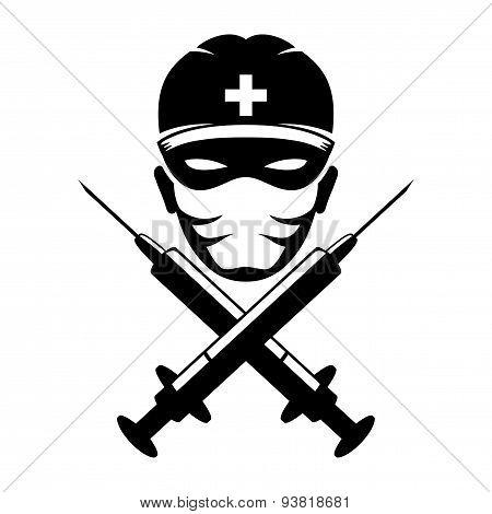 Vector sign. Medic.