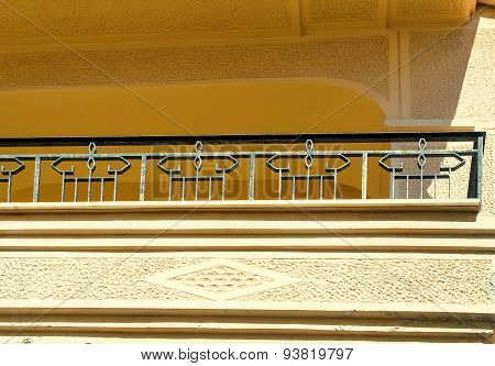 Fragment Of A Facade Of A House With A Balcony