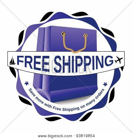 Free shipping label for print