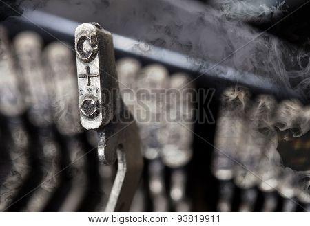 C Hammer - Old Manual Typewriter - Mystery Smoke