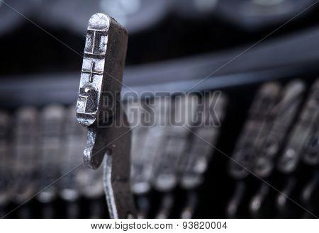 I Hammer - Old Manual Typewriter - Cold Blue Filter
