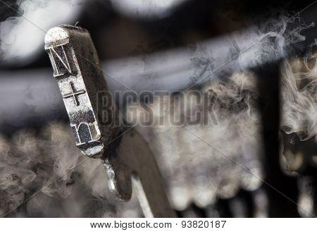 N Hammer - Old Manual Typewriter - Mystery Smoke