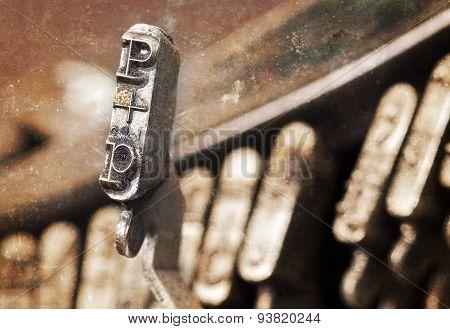 P Hammer - Old Manual Typewriter - Warm Filter