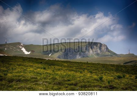 Bucegi plateau. Carpathian mountains