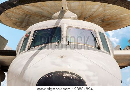 Hatzerim, Israel - April 27, 2015: Northrop Grumman E-2 Hawkeye Is An American All-weather, Carrier-