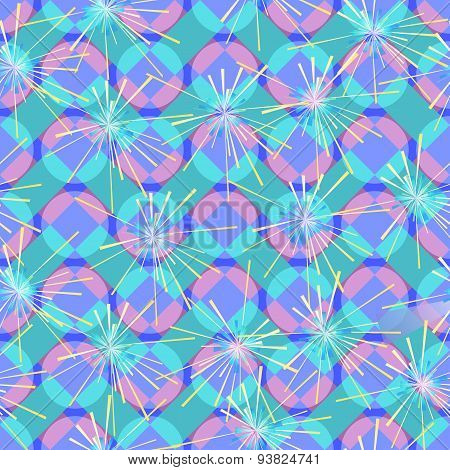 Colorful Flash On A Geometric Background.