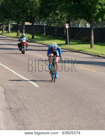 Barton Races Toward Finish At Time Trial