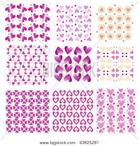Pink tiling heart textures