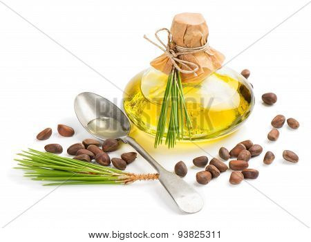 Oil And Cedar Pine Nuts