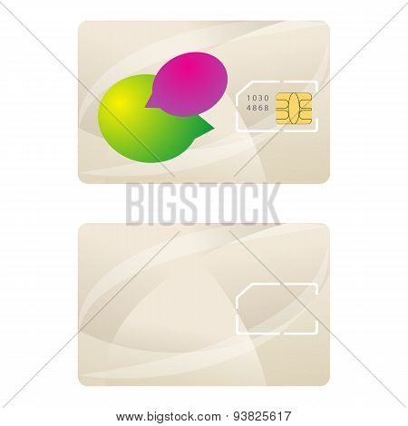 Sim Card Template Telecommunication Design Vector