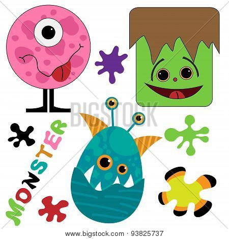 Cute and funny monster collection