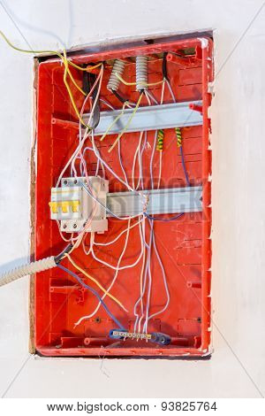 Unfinished Work On Electrical Panel Installation