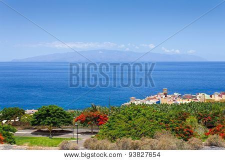 View of La Homer? island with Tenerife, the Canary Islands, Spain.