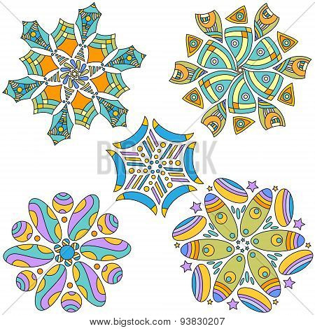Colorful Ornament Collection