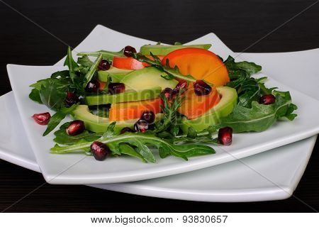 Salad With Avocado, Grapefruit, Persimmon