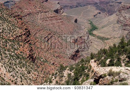 Rock Formation From Grand Canyon, South Rim National Park In Usa