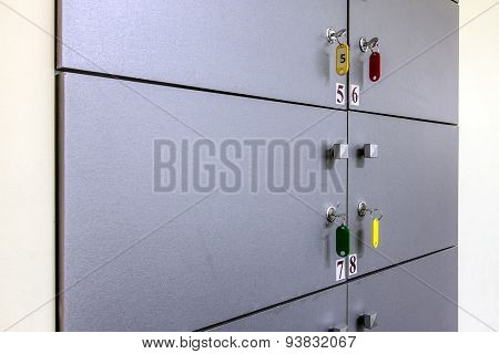 Locker With Number And Key