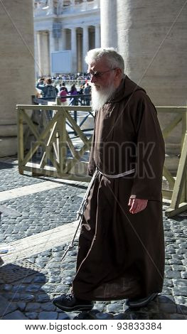Servant of Papal Basilica of Saint Peter temple in Vatican