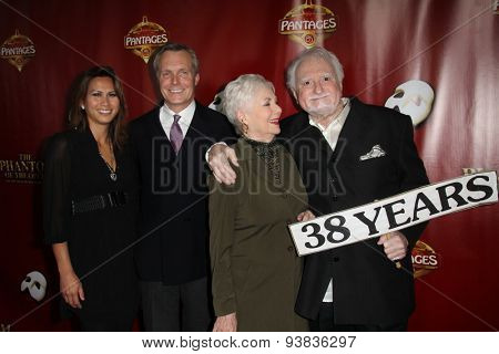 LOS ANGELES - JUN 17:  Ryan Cassidy, Shirley Jones, Marty Ingels at the