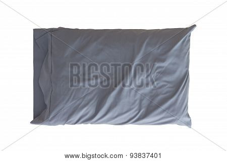 Grey Pillow Isolated On White