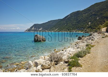 Blue Waters of the Agios Nikitas Beach