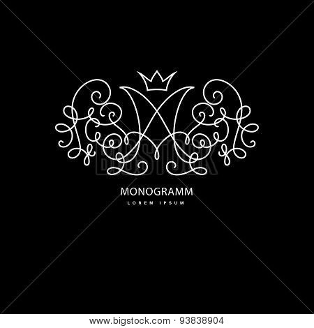 Monogramm with letter m