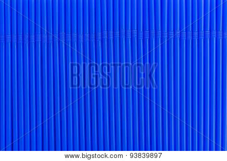 Texture Of Blue Drink Straws