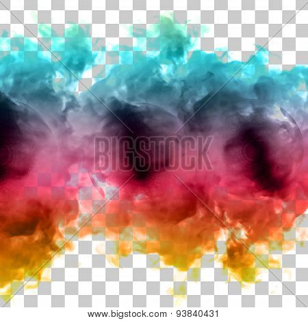 Vector color cloud.