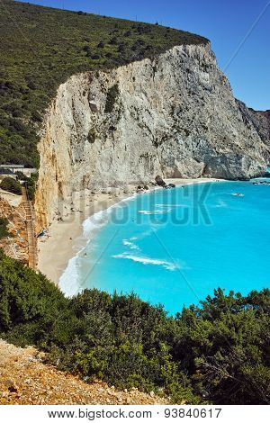 Blue Waters of Porto Katsiki Beach, Lefkada