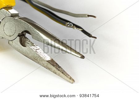 Pliers Tool Isolate White