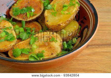 Rustic oven baked potatoes