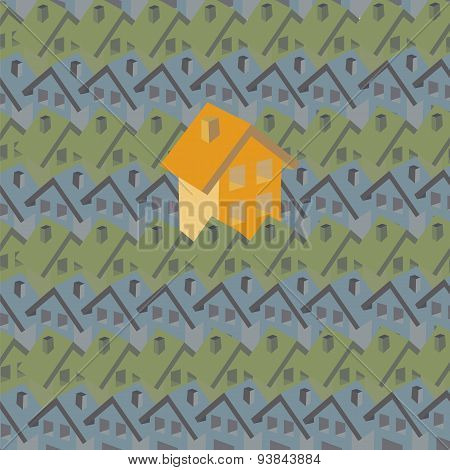 Pattern With Houses