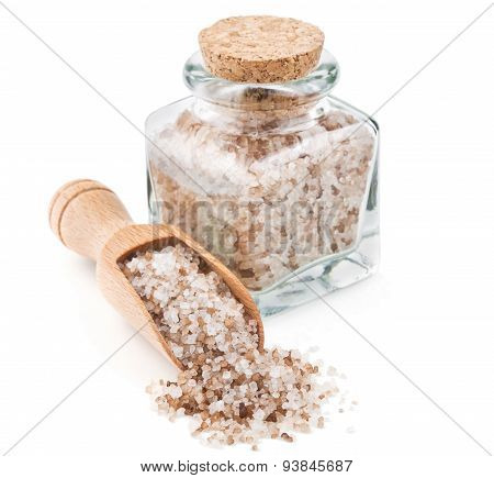 Danish smoked salt in a glass bottle