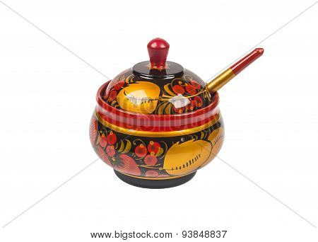 The Pot Painted Wooden Khokhloma.